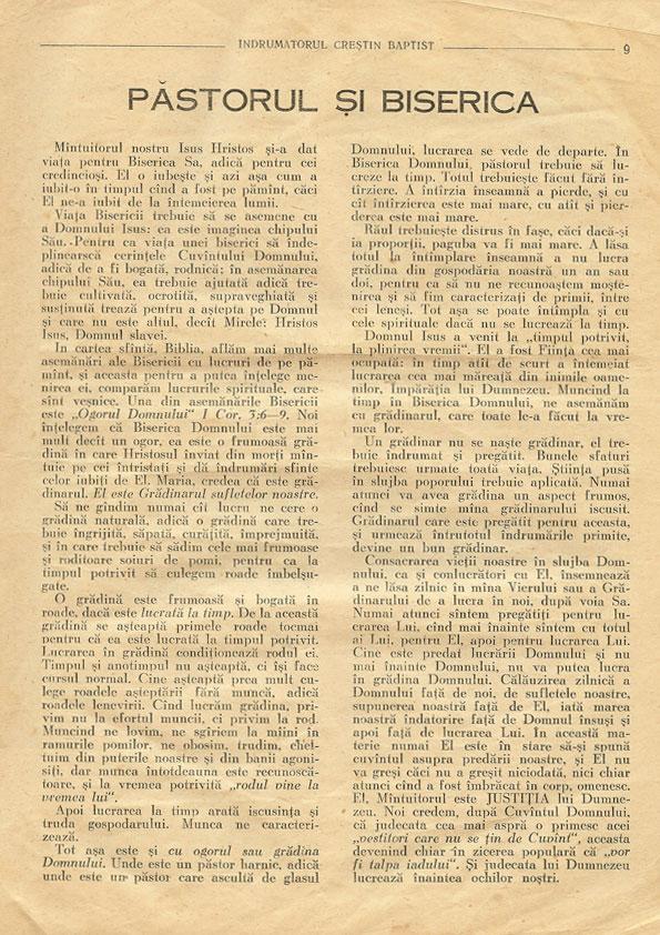 Indrumatorul Crestin Baptist dec 1957 - pagina 9